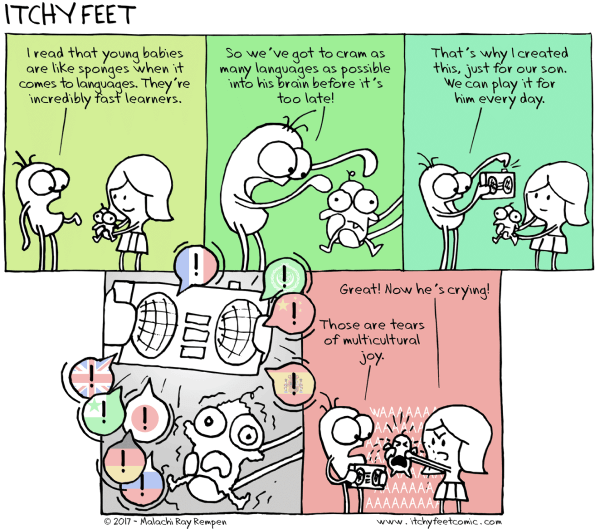 Sponge training cartoon - copyright Itchy Feet http://www.itchyfeetcomic.com/2017/03/sponge-training.html