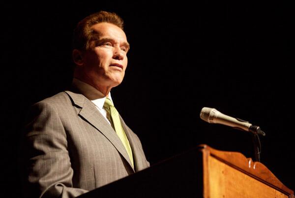 Arnie giving a speech as Governor of California - copyright Thomas Hawk http://www.flickr.com/photos/thomashawk/
