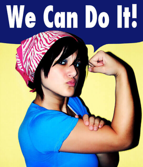 "Ricreazione del poster ""we can do it"""