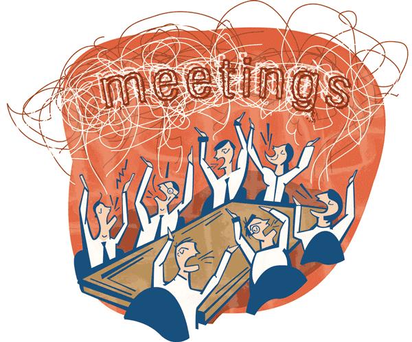Illustrazione di una riunione terribile - copyright Amanda Schutz https://www.flickr.com/photos/amandawoodward/