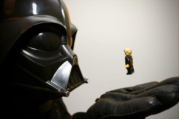 Face to face with Darth Vader in Lego - copyright Jonathan_W (@whatie) http://www.flickr.com/photos/s3a/