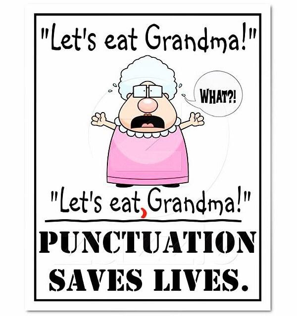 Let's eat grandma cartoon - copyright https://www.flickr.com/photos/coolinsights/